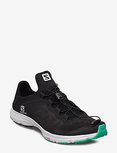 SHOES AMPHIB BOLD W - vandrings- & promenadskor - black/white/electric green