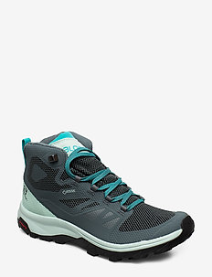 SHOES OUTline Mid GTX W - vandrings- & promenadskor - stormy weather/icy morn/bluebird