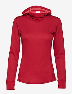 AGILE LS HOODIE W - RIO RED