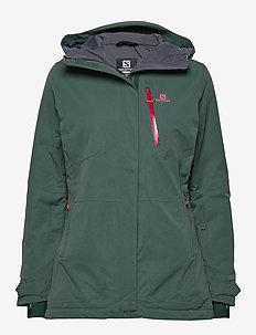 QST SNOW JKT W - insulated jackets - green gables