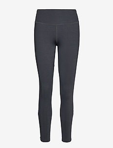 AGILE LONG TIGHT W - löpnings- och träningstights - black/ebony/heather
