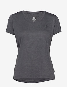 AGILE SS TEE W Ebony/Black/Heather - t-shirts - ebony/black/heather