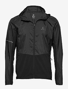 AGILE FZ HOODIE M Black - training jackets - black