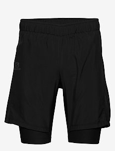 AGILE TWINSKIN SHORT M - träningsshorts - black