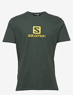 COTON LOGO SS TEE M - t-shirts - green gables/lemon curry