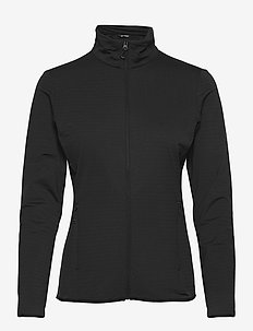 OUTRACK FULL ZIP MIDLAYER Black - outdoor & rain jackets - black
