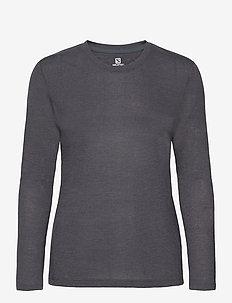 COMET CLASSIC LS TEE W / HEATHER - långärmade tröjor - grey