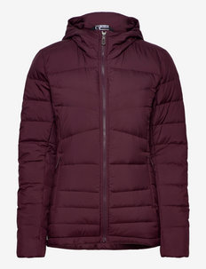 TRANSITION DOWN HOODIE W - wandel- en regenjassen - purple