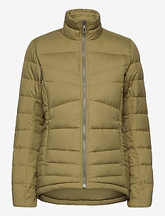 TRANSITION DOWN JACKET W - friluftsjackor - green