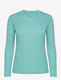 COMET CLASSIC LS TEE W / HEATHER - langærmede toppe - blue