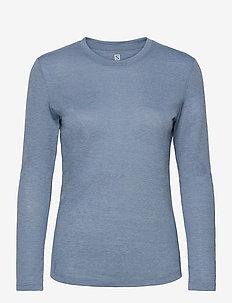 COMET CLASSIC LS TEE W / HEATHER - topjes met lange mouwen - blue
