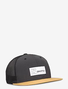 TRUCKER FLAT CAP Black/Cumin - kappen - black/cumin