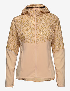 AGILE FZ HOODIE W ALMOND CREAM/AO - training jackets - almond cream/ao
