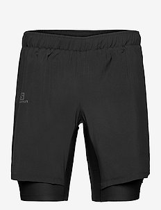 XA TWINSKIN SHORT M Black - trainingsshorts - black