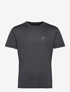 EXPLORE TEE M Black/Ebony/Heather - t-shirts - black/ebony/heather