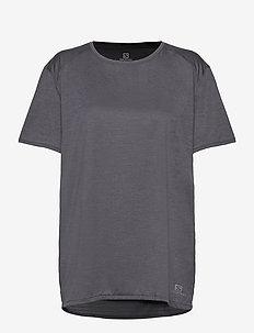 OUTLINE SUMMER TEE W Ebony - t-shirts - ebony
