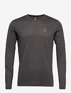 XA LONG SLEEVE TEE M Black/Heather - langermede topper - black/heather
