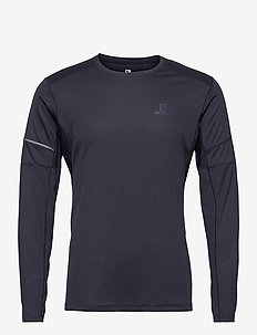 AGILE LS TEE M NIGHT SKY - langermede topper - night sky