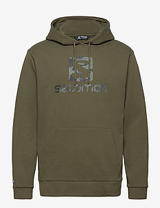 OUTLIFE LOGO PULLOVER HOO Olive Night - hoodies - olive night