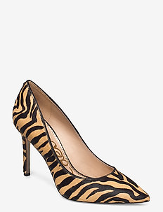 HAZEL LARGE TIGER BRAHMA HAIR - klassieke pumps - nude/black