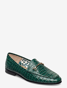 LORAINE DRESS CROC LEATHER - loafers - green ivy