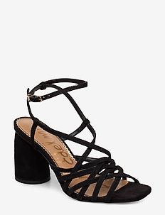 DAFFODIL - sandały na obcasie - black