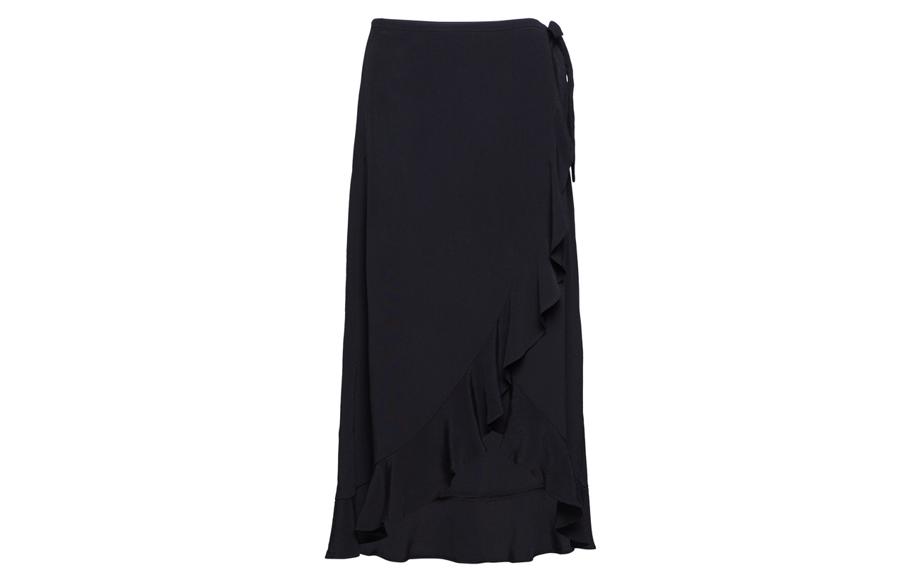 Limon Skirt Samsøe Wrap Viscose 100 Black amp; 6515 L BnZ6w