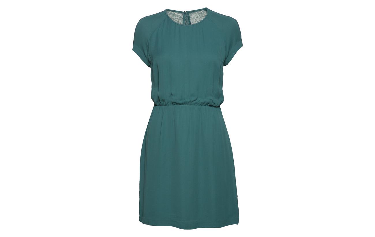 100 Viscose amp; 6616 Mallard Reya Green Dress S Samsøe 08xpZzz