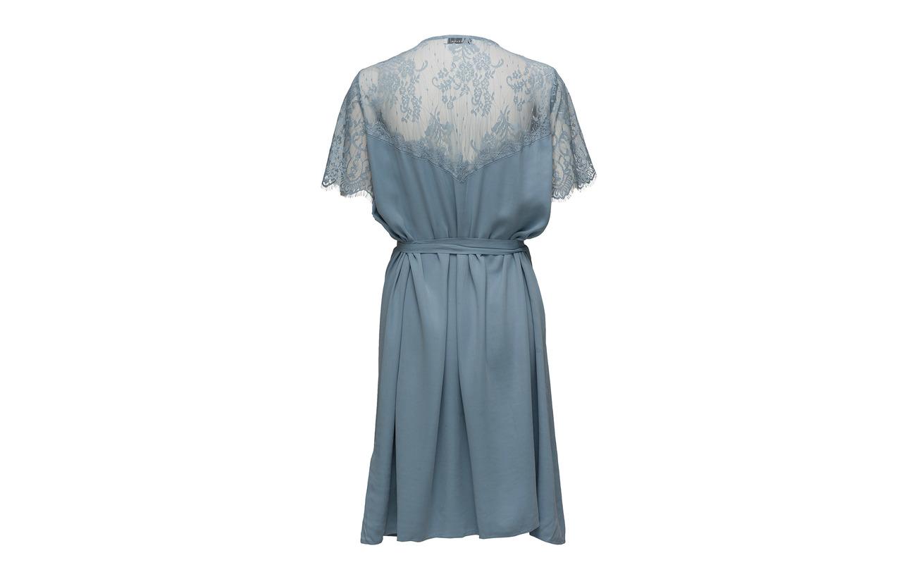 Dusty 9874 Dress 100 Ss Simona Blue Polyamide Samsøe amp; wIaqA