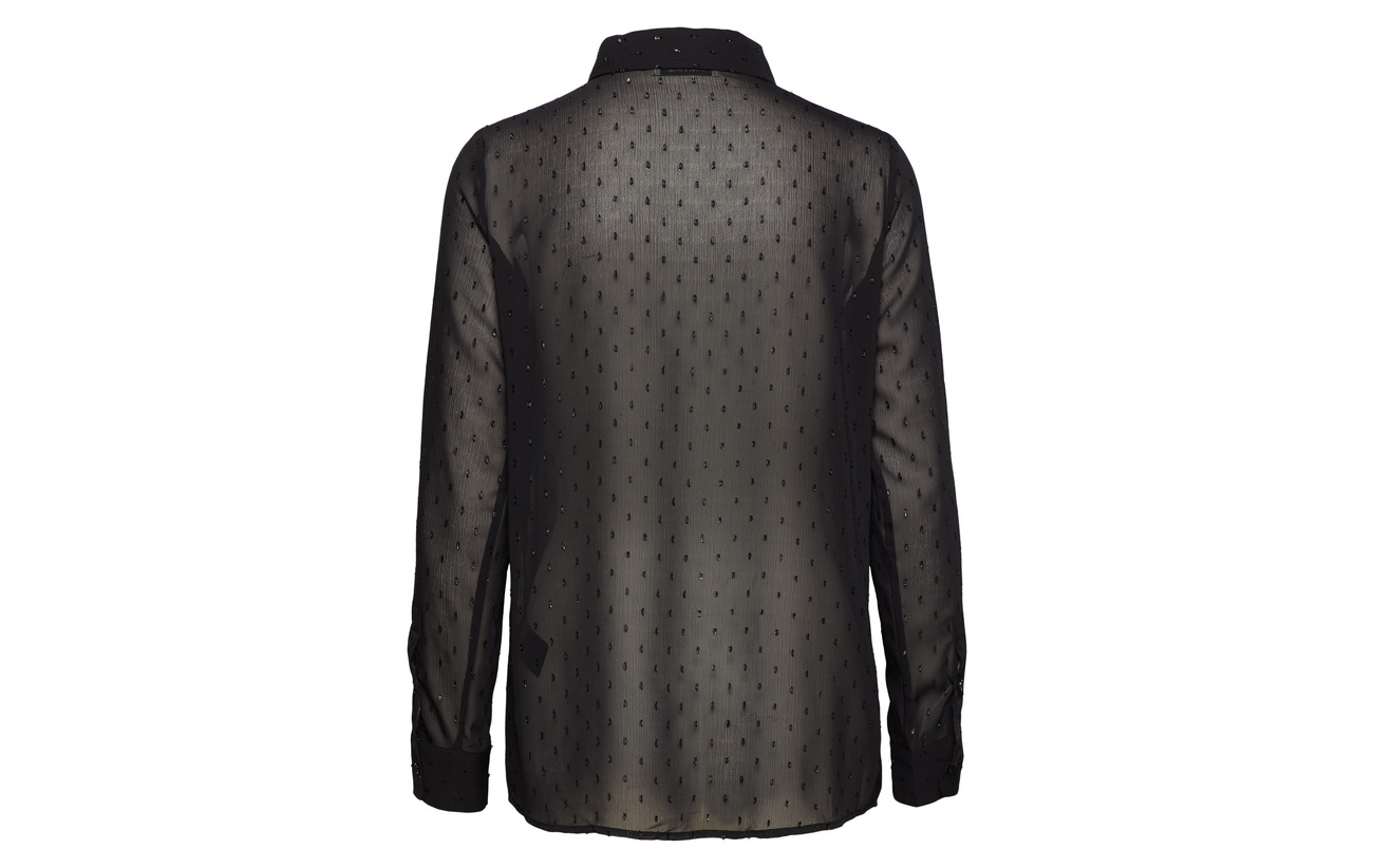 Polyester amp; 100 Shirt Milly Samsøe Black Np 10444 SxHCwfq