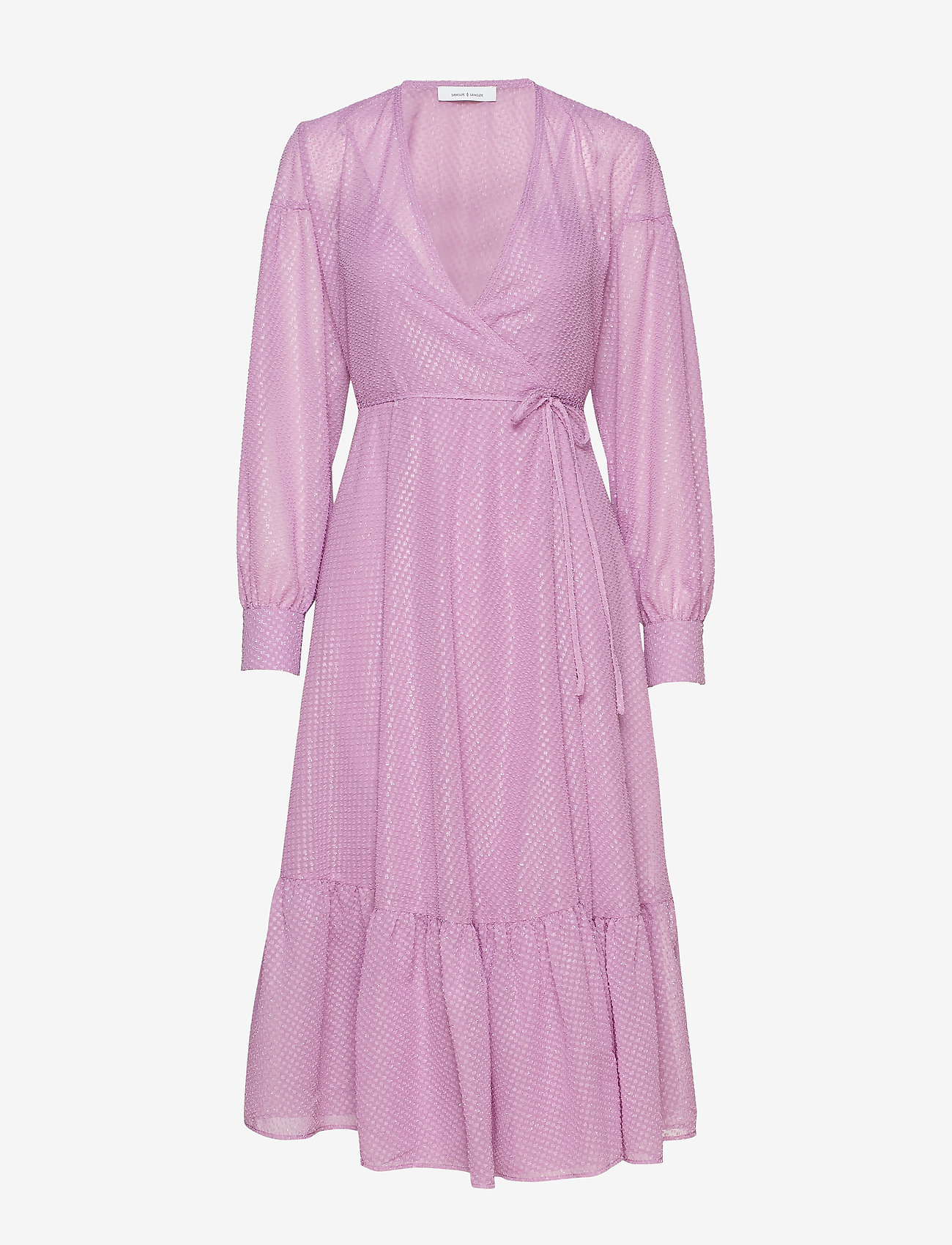 Samsøe Samsøe - Tulip long dress 11512 - omlottklänning - languid lavender - 0
