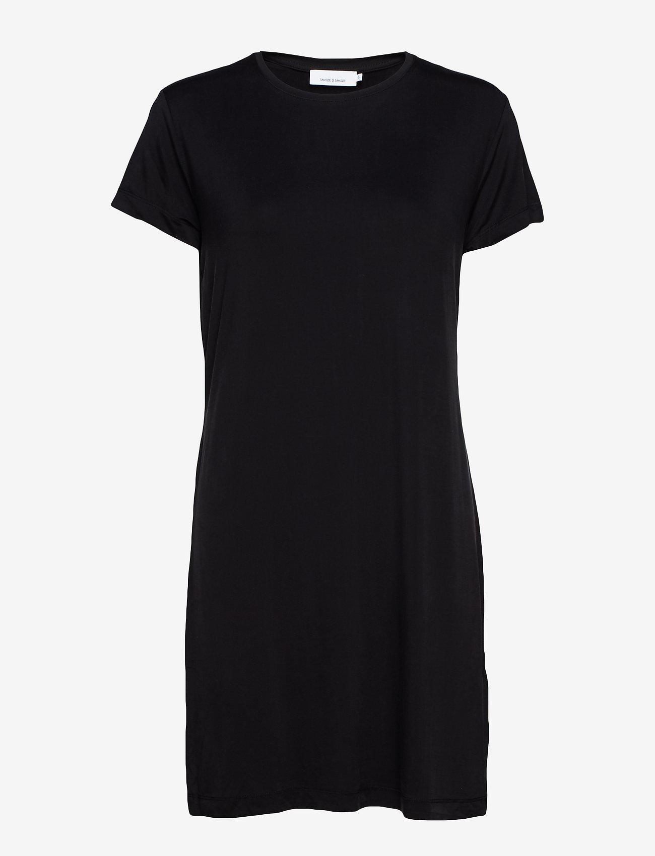 Samsøe Samsøe - Siff dress 6202 - sukienki do kolan i midi - black - 0