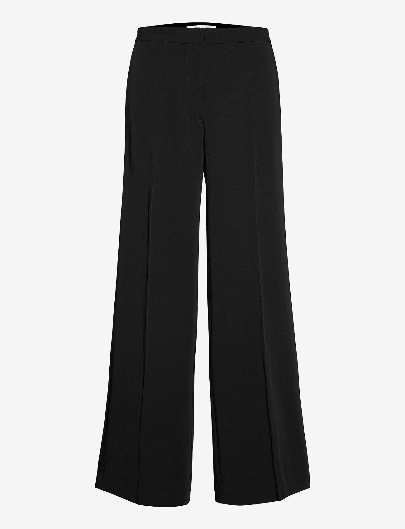 Samsøe Samsøe - Collot trousers 7331 - bukser med brede ben - black - 0
