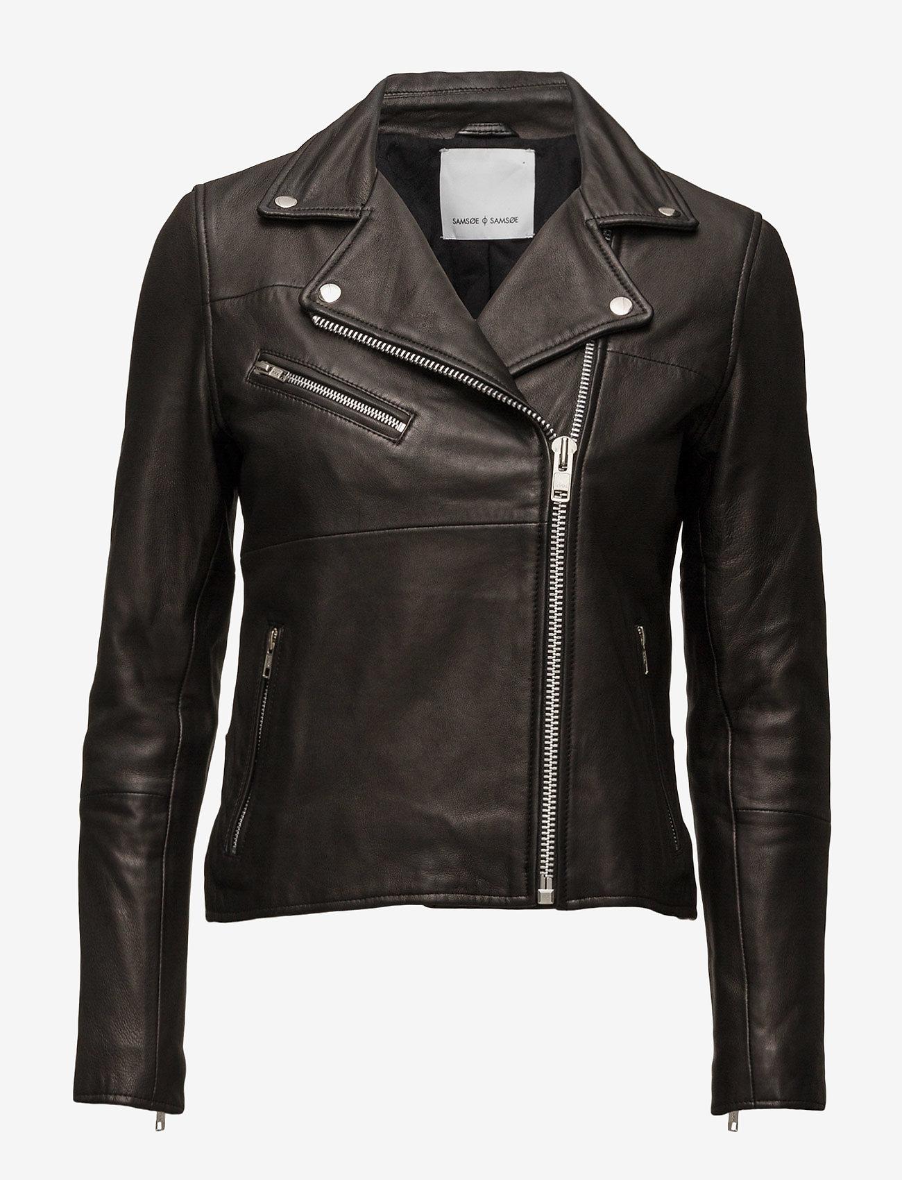 Samsøe Samsøe - Tautou jacket 2771 - Ādas virsjakas - black - 1