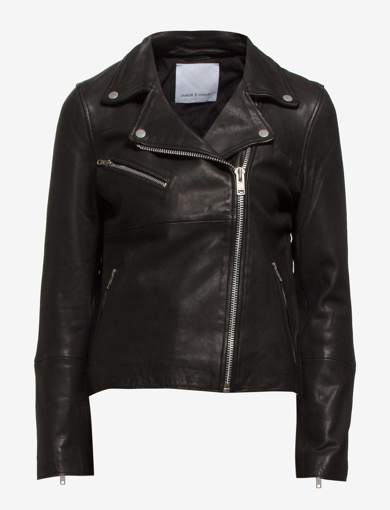 Samsøe Samsøe - Tautou jacket 2771 - kurtki skórzane - black - 1