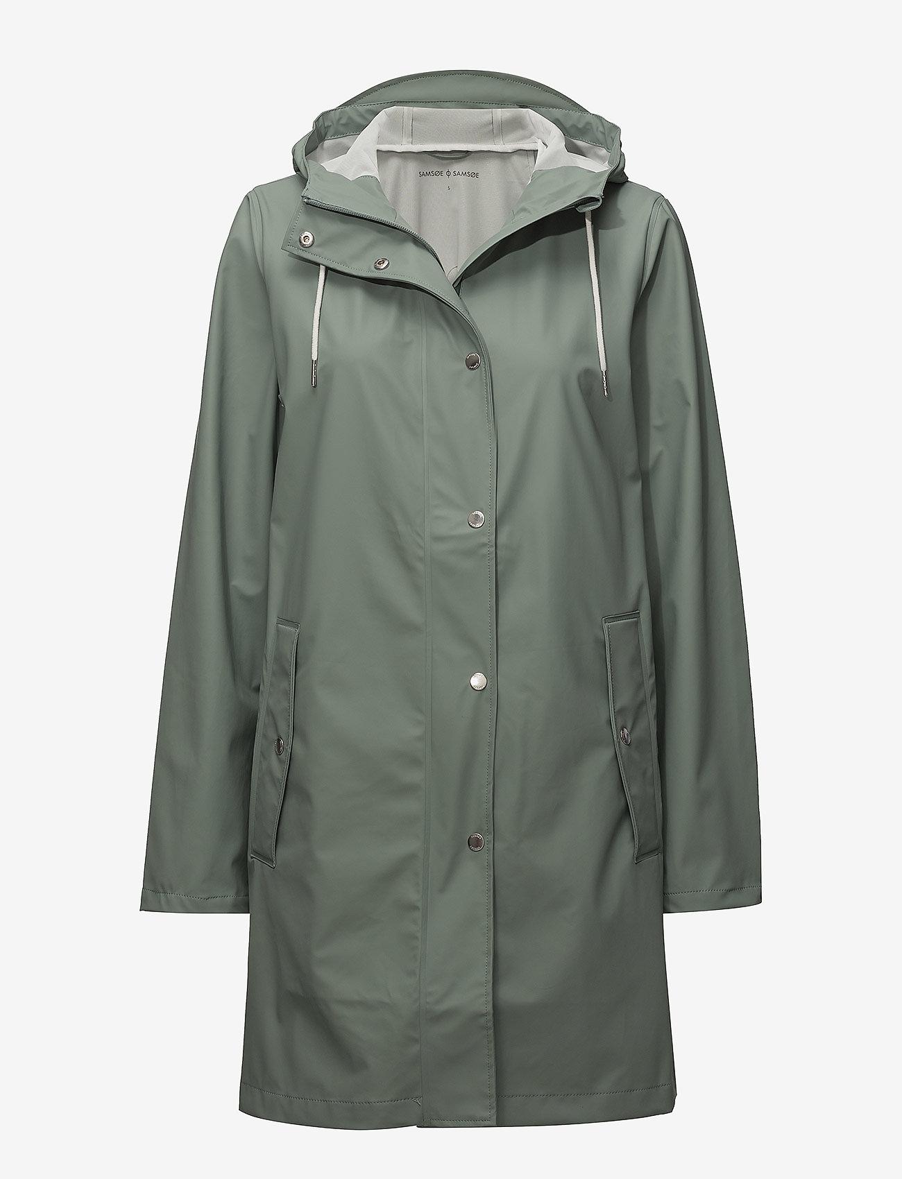 Samsøe Samsøe - Stala jacket 7357 - regnjakker - chinois green - 0