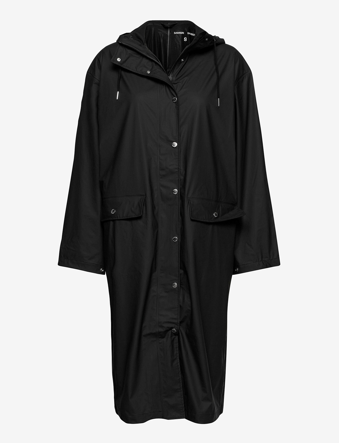 Samsøe Samsøe - Stala long jacket 7357 - manteaux de pluie - black - 0