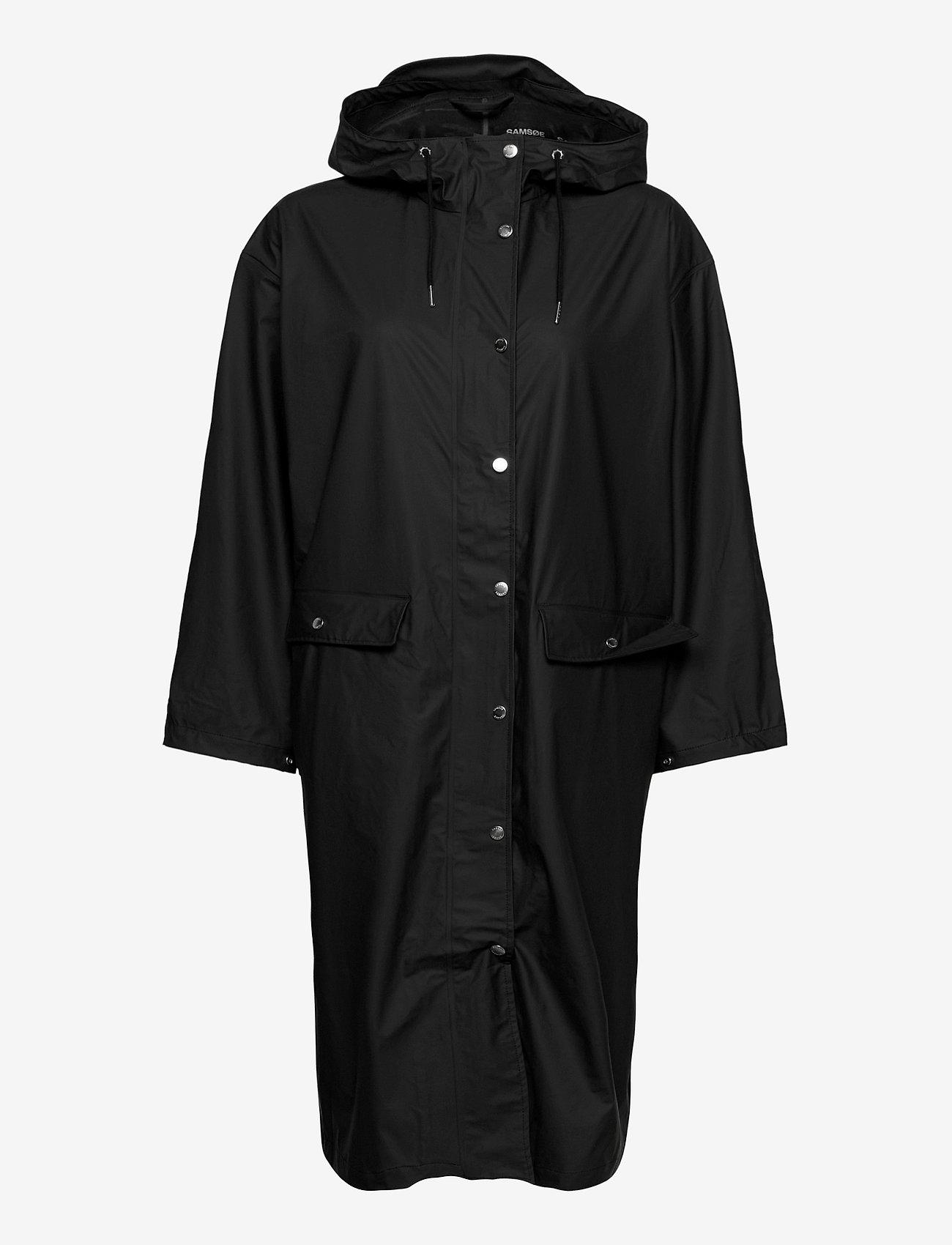 Samsøe Samsøe - Stala long jacket 7357 - manteaux de pluie - black - 1