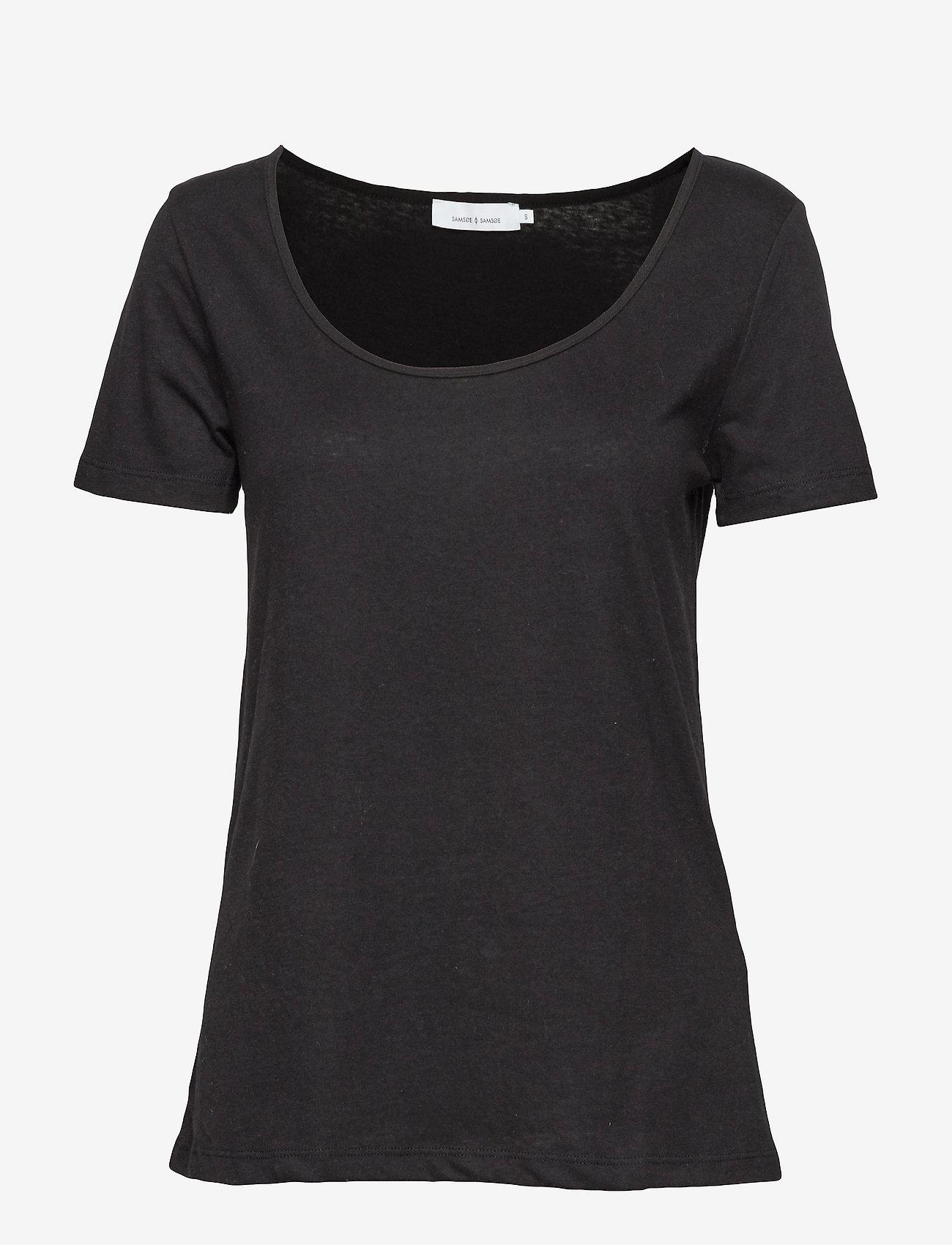Samsøe Samsøe - Nobel tee 3170 - koszulki basic - black