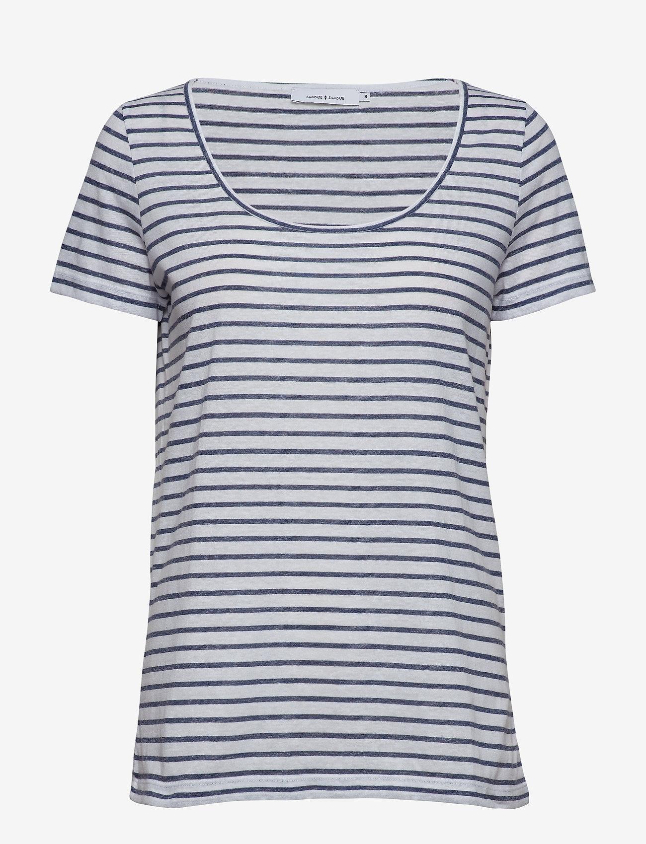 Samsøe Samsøe - Nobel tee stripe 3173 - gestreifte t-shirts - 3173 blue stripe - 0