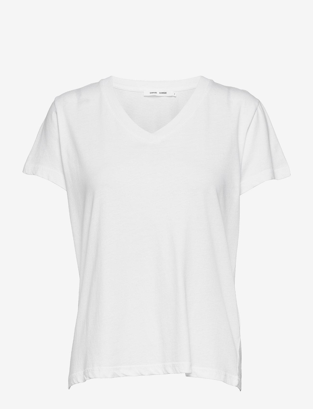 Samsøe Samsøe - Solly v-n t-shirt 205 - t-shirts - white - 0