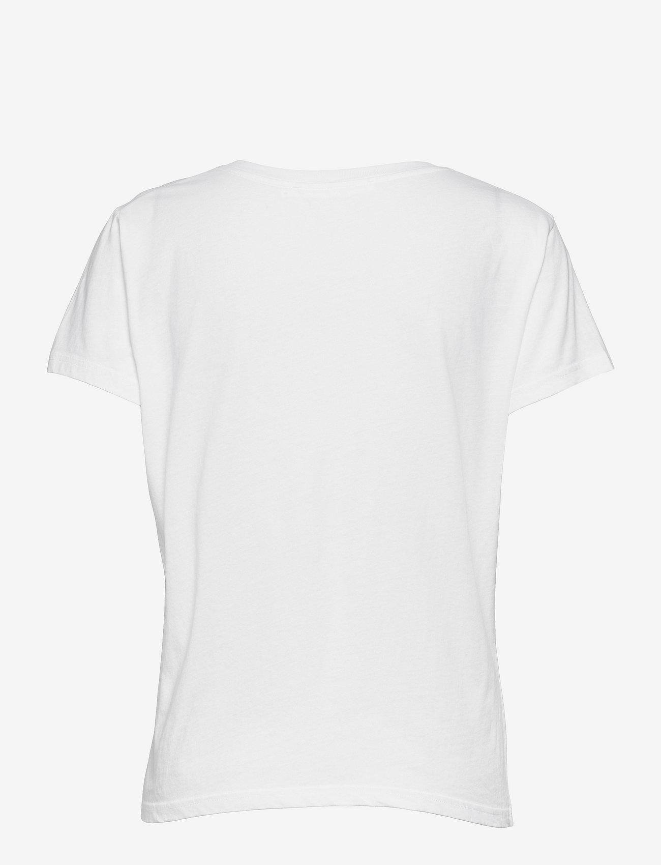 Samsøe Samsøe - Solly v-n t-shirt 205 - t-shirts - white - 1