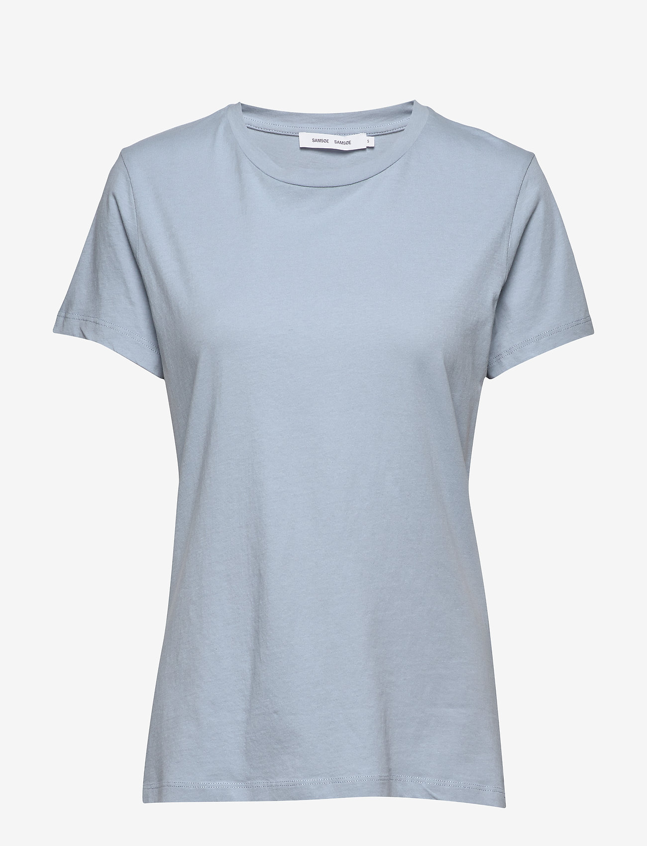 Samsøe Samsøe - Solly tee solid 205 - t-shirts - dusty blue - 0