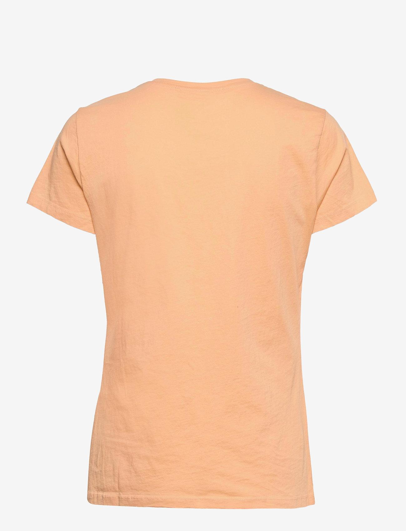 Samsøe Samsøe - Solly tee solid 205 - t-shirts - peach nougat - 1