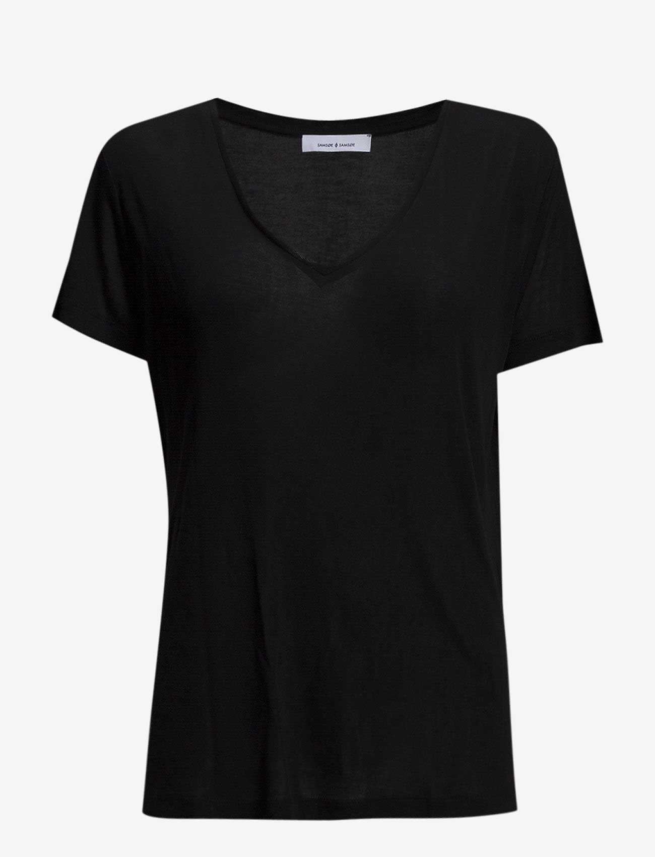 Samsøe Samsøe - Siff v-neck 6136 - basic t-shirts - black - 0