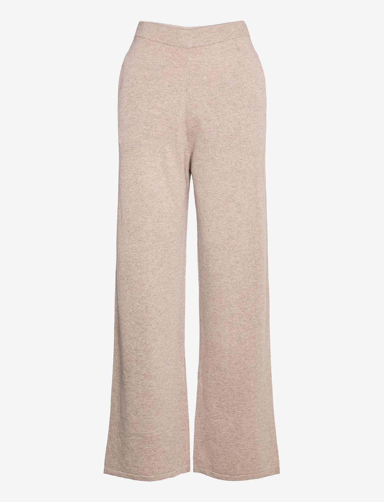 Samsøe Samsøe - Amaris straight trousers 12758 - bukser med brede ben - khaki mel. - 0