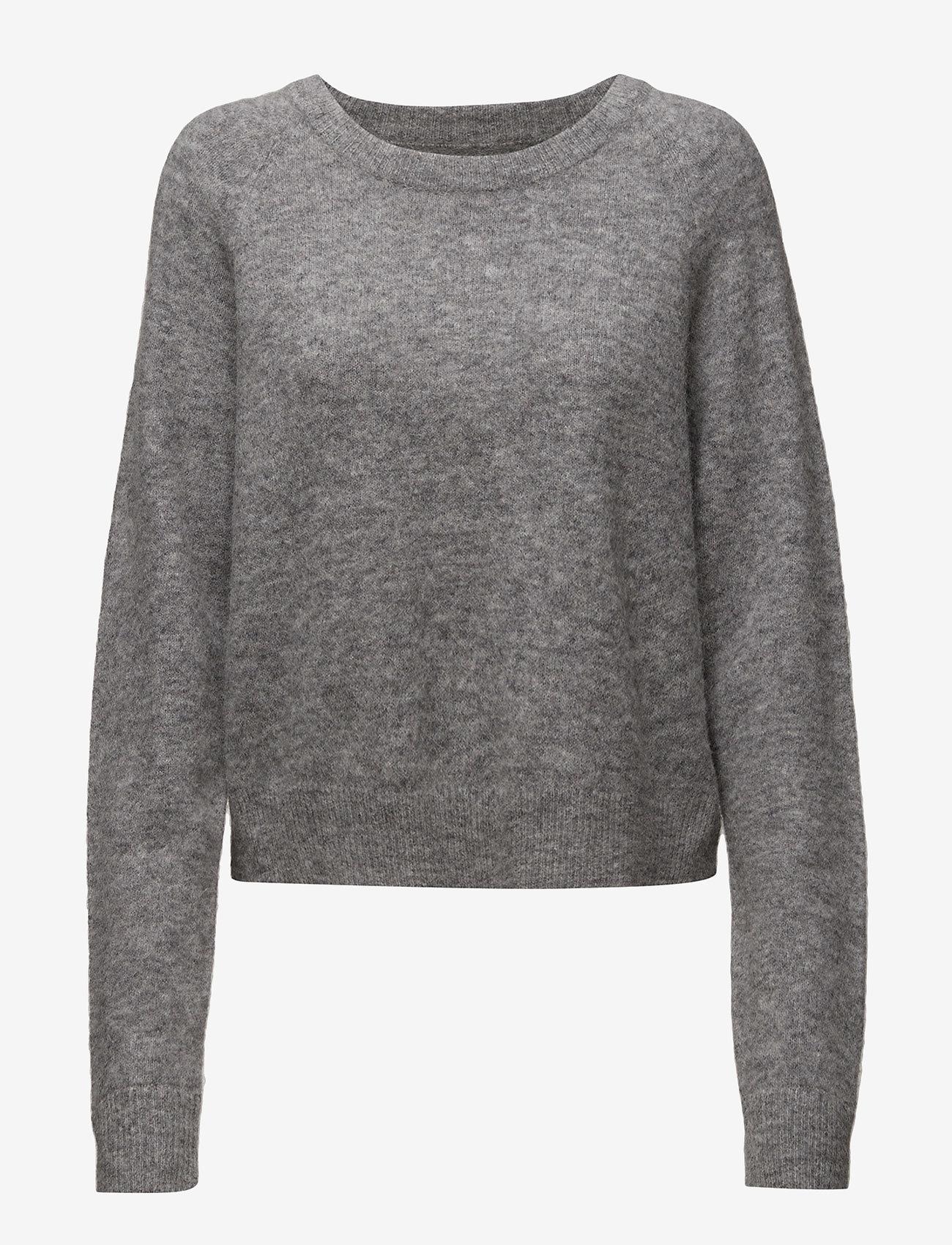 Samsøe Samsøe - Nor o-n short 7355 - tröjor - grey mel. - 0
