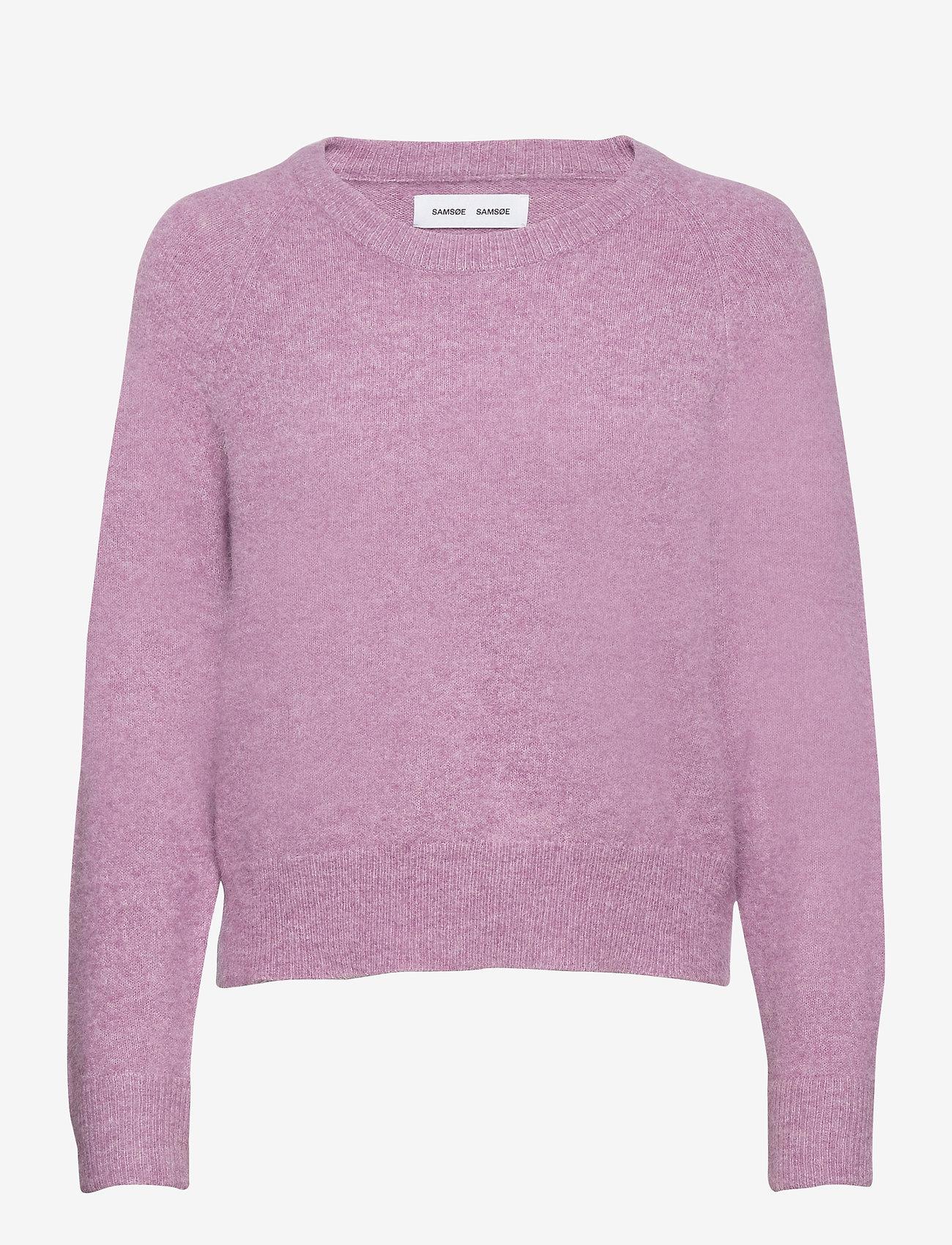 Samsøe Samsøe - Nor o-n short 7355 - tröjor - purple jasper mel. - 0
