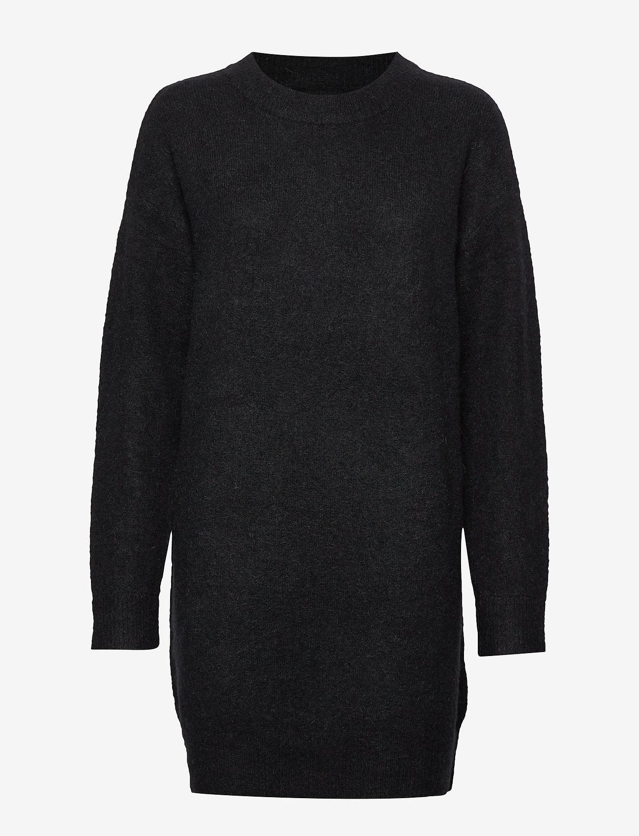Samsøe Samsøe - Nor o-n dress 7355 - stickade klänningar - black - 0