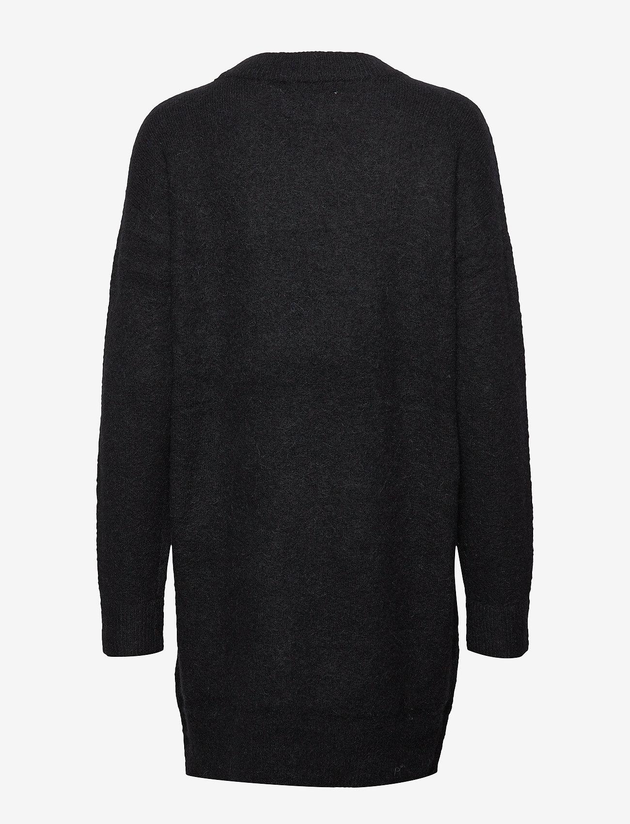 Samsøe Samsøe - Nor o-n dress 7355 - stickade klänningar - black - 1